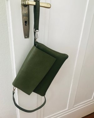 Börse in Pelle Crossbody bag olive green leather