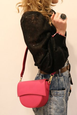 Borse in Pelle Italy Crossbody bag pink leather