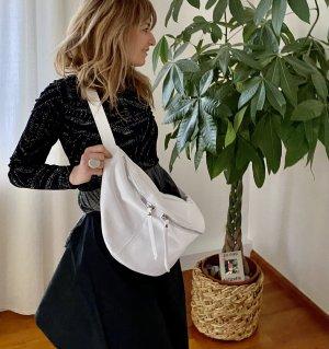 Borse in Pelle Italy Crossbody bag white leather