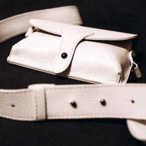 Umhängetasche Handtasche Schultertasche Ledertasche WEIß neu Vintage Look