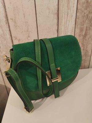 Borse in Pelle Italy Crossbody bag green leather