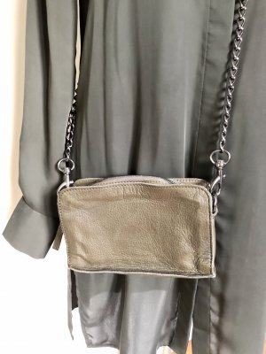 Liebeskind Crossbody bag green grey-grey brown leather
