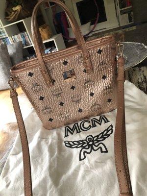 MCM Crossbody bag gold-colored-pink