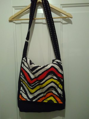 Handmade Bolso de tela multicolor
