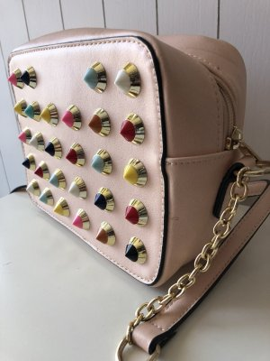 no name Crossbody bag light pink-gold-colored