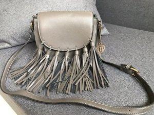 Manoukian Bolso de flecos gris Imitación de cuero