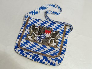 Folkloristische tas blauw-wit Polyester
