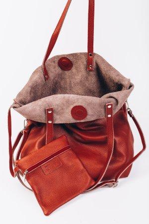 Umhängetasche Shopper Handtasche Schultertasche Ledertasche bordo Vintage Look