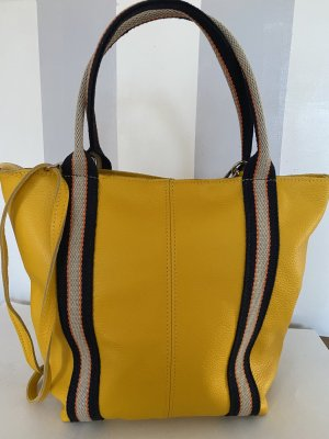 Börse in Pelle Shopper yellow leather