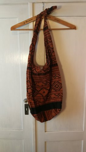Burlap Bag black-dark orange