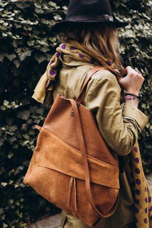 Umhängetasche Tasche Handtasche Leder braun Shopper Vintage Look