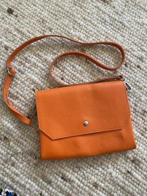 Umhängetasche Tasche Ledertasche Clutch Leder orange