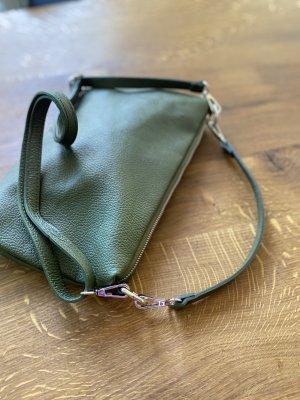 Umhängetasche Tasche Ledertasche Clutch Olive feminin und minimalistisch