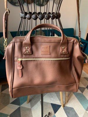 Bolso con correa marrón-coñac