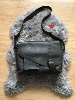 aunts & uncles Crossbody bag black brown leather