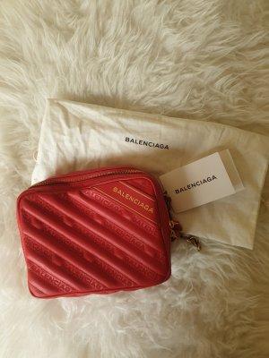Balenciaga Sac bandoulière rouge brique cuir