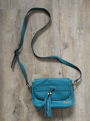 Buffalo Crossbody bag petrol mixture fibre