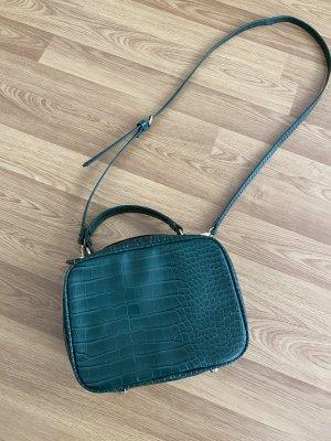 Umhängetasche von Zara in grün mit gold
