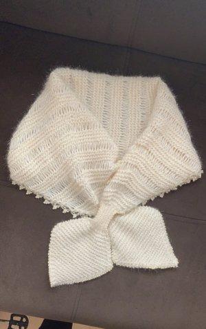 keine Écharpe en tricot blanc cassé polyamide