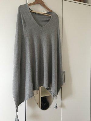Comma Poncho en tricot argenté