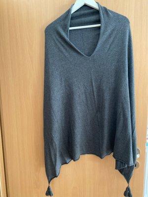 Comma Bufanda de lana gris oscuro