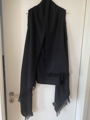 Strenesse Long Knitted Vest black wool