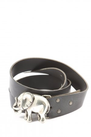 Umjubelt Leather Belt black casual look