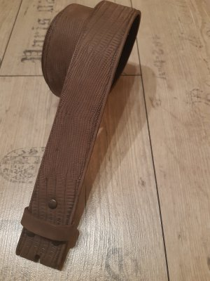Umjubelt Cinturón de cuero marrón grisáceo-marrón claro
