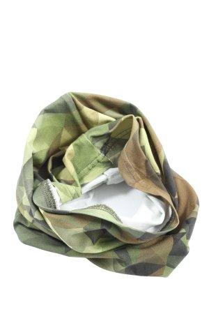 umo Écharpe tube vert-brun motif abstrait style décontracté