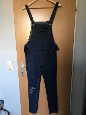 Salopette en jeans bleu foncé