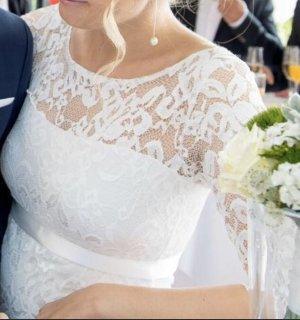"""(Umstands-)Brautkleid """"Amelia"""" von Tiffany Rose in Größe 36/38"""