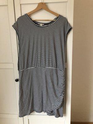 H&M Vestido estilo camisa blanco-azul oscuro