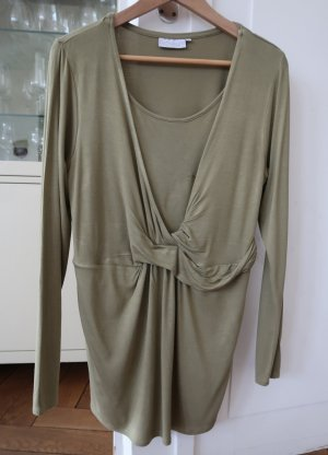 2hearts Cowl-Neck Top olive green viscose