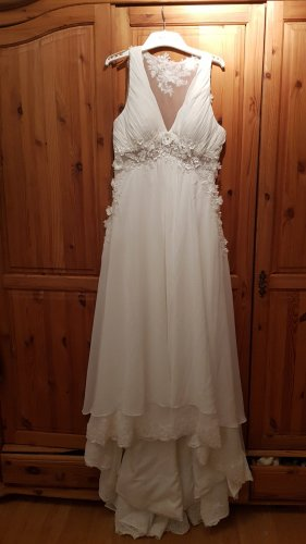 Suknia ślubna biały Szyfon