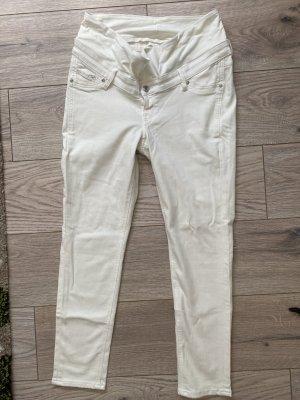 H&M Mama Tube Jeans white-natural white