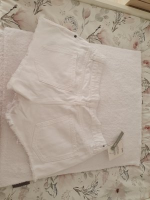 Asos White Denim Shorts white