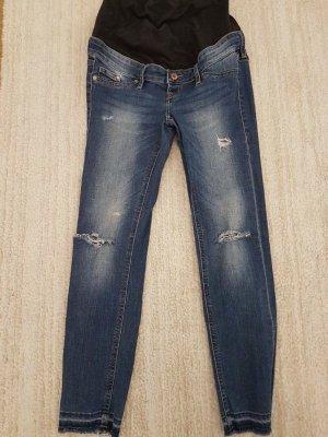 Peg Top Trousers black-blue