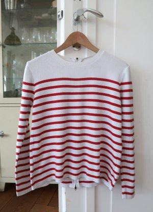 Umstandspullover von Topshop Maternity Gr. EUR 40 Breton Stripes weiß rot
