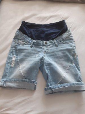 Bon Prix High-Waist-Shorts blue-azure
