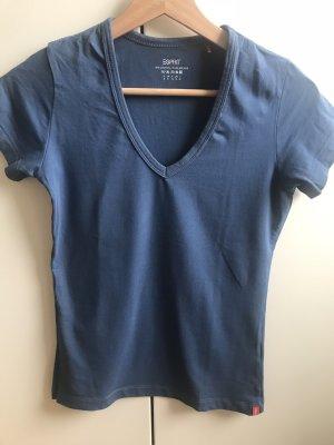 Esprit Koszulka basic szary niebieski