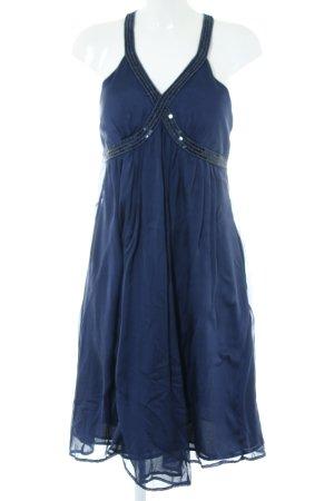 Un Deux Trois Abendkleid blau Elegant
