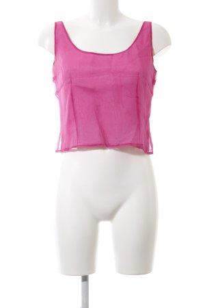 Un Deux Trois Top corto rosa stile casual