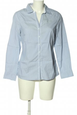 Un Deux Trois Hemd-Bluse blau Streifenmuster Business-Look