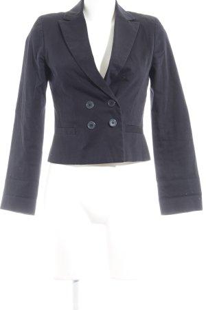 Un Deux Trois Korte blazer donkerblauw zakelijke stijl