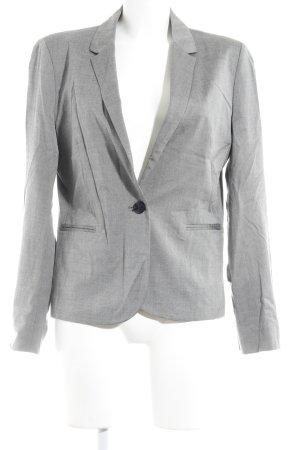 Un Deux Trois Korte blazer grijs gestippeld zakelijke stijl