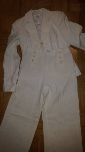 1.2.3 Paris Pinstripe Suit brown-natural white linen