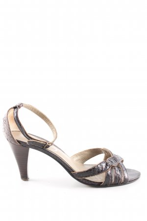 Un Deux Trois Strapped pumps brown animal pattern casual look