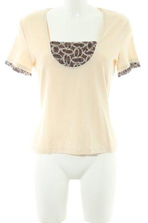 Un Deux Trois T-Shirt abstraktes Muster Stofflagen-Detail