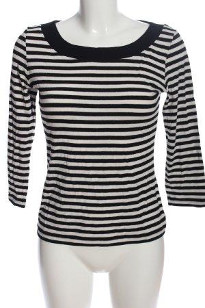 un1ueux2trios3 Longsleeve schwarz-weiß Streifenmuster Casual-Look