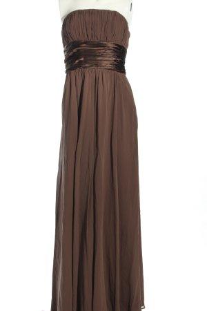 un1ueux2trios3 schulterfreies Kleid braun Elegant